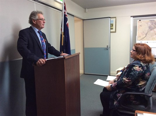 Citizenship Ceremonies 2015 - Council Deputy President, Cr SC Carter