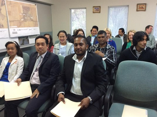 Citizenship Ceremonies 2015 - The Three New Citizens on front seats