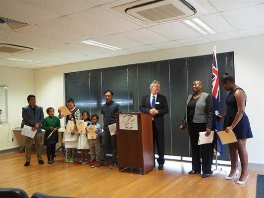 View Citizenship Ceremony 27/9/2016
