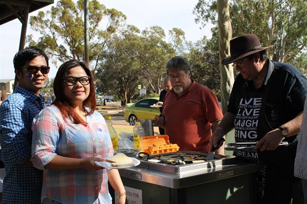 Australia Day Breakfast 2014 - Waiting for BBQ