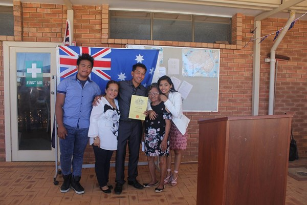 Citizenship Ceremony 26 Jan 2018 - Sablayan Family