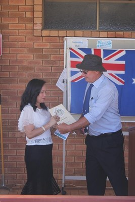 Citizenship Ceremony 26 Jan 2018 - CT with Presdent