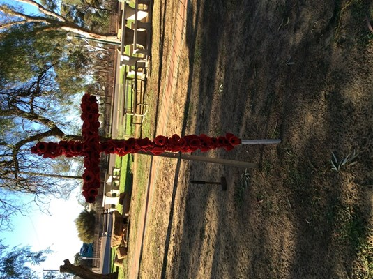 ANZAC Day 2015 - Poppy Cross