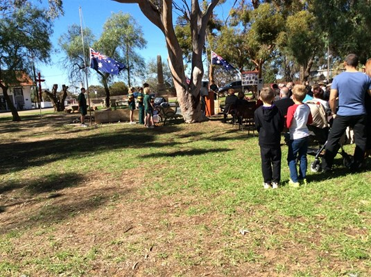 ANZAC Day 2015 - Program 2- Johnston Memorial park