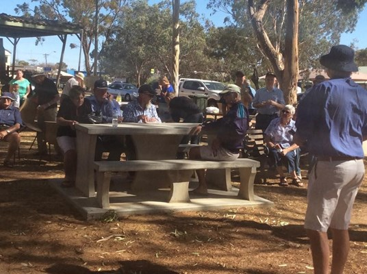 Australia Day Breakfast 2015 - Eating1