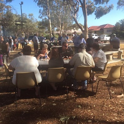 Australia Day Breakfast 2015 - Eating2