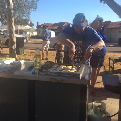 Australia Day Breakfast 2015 - Cooking3