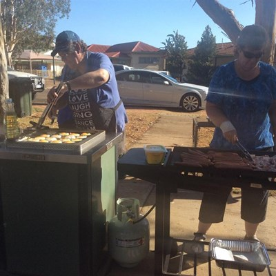 Australia Day Breakfast 2015 - Cooking1