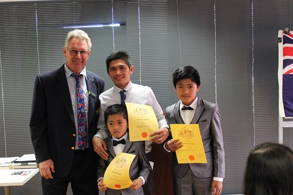 Citizenship Ceremony May 2018 - President & A& sons