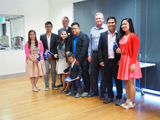 Citizenship Ceremony 21/02/2017 - Family Lagdameo
