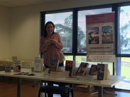 Rachael Johns Library Visit 2015 - Book Presentation